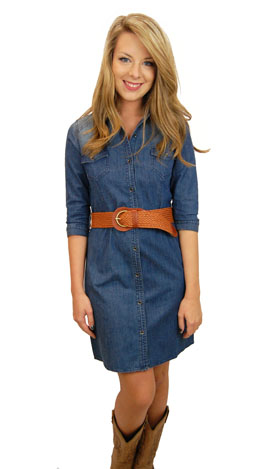 Blue Jean Baby Dress :: The Blue Door Boutique