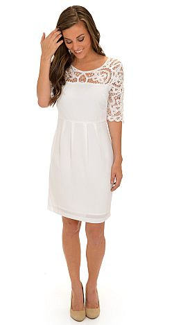 Lelani Dress White :: Dresses :: The Blue Door Boutique