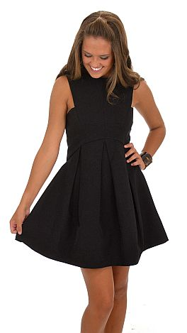 Fit And Flare Dress Black Dresses The Blue Door Boutique