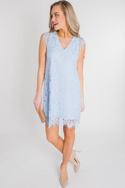 Blue Skies Lace Dress