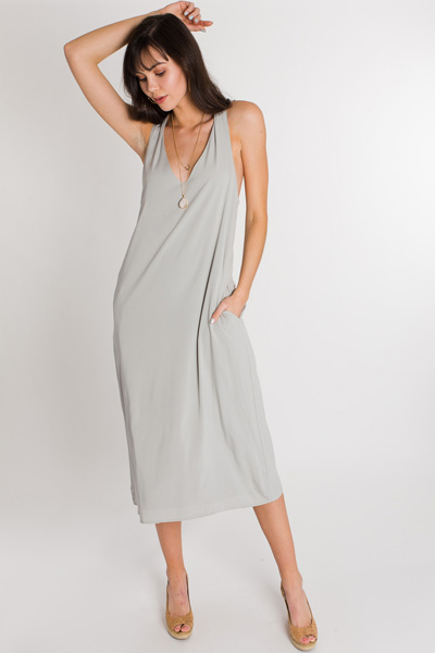 Kayla Pocket Midi, Grey