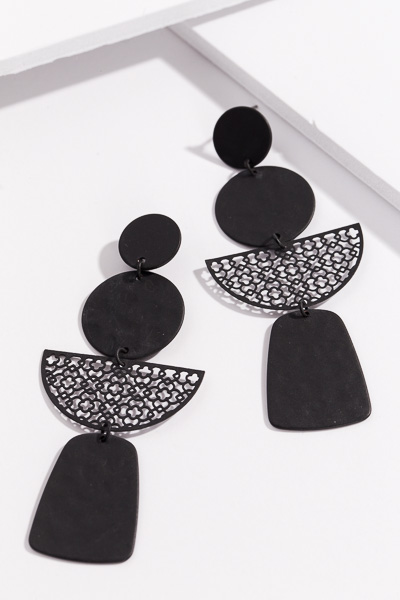 Party of 4 Earring, Black
