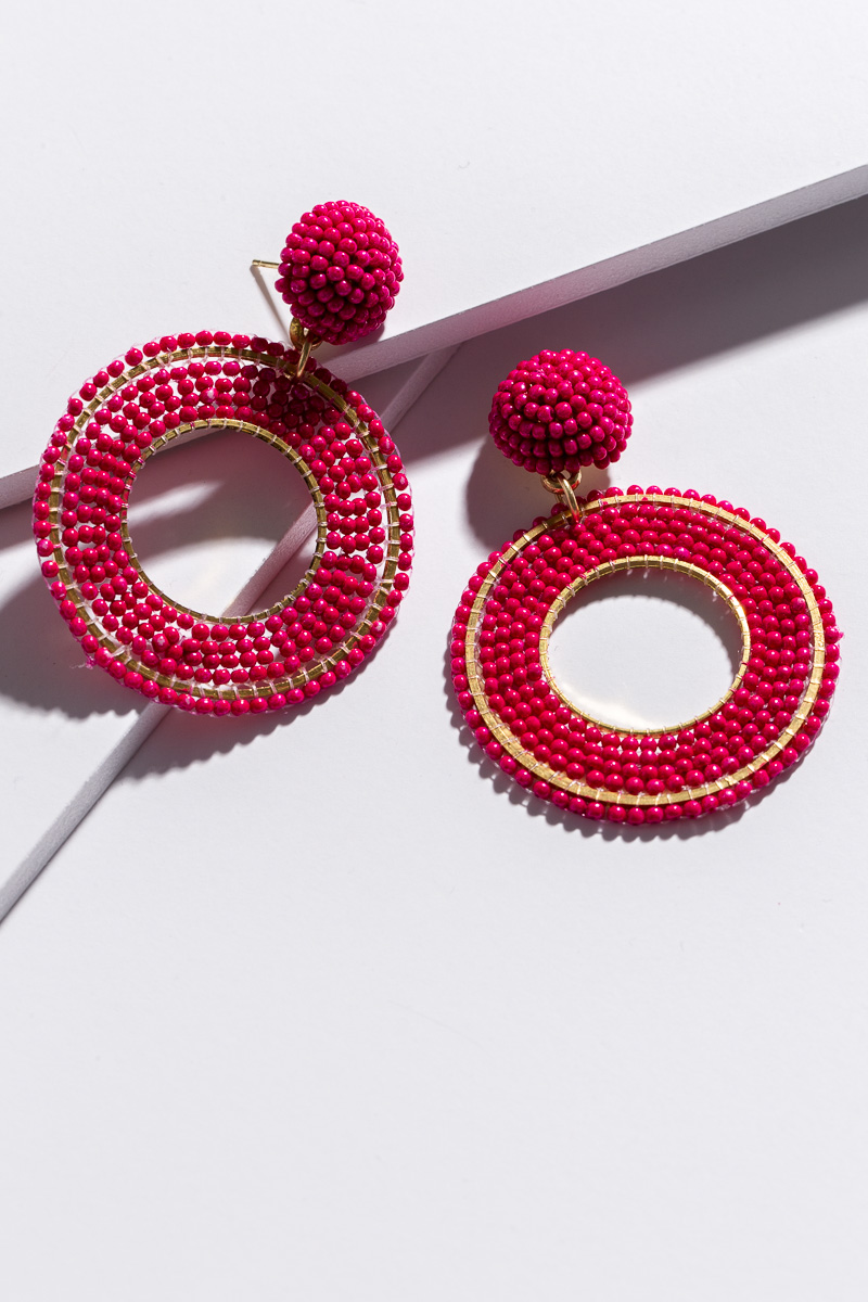 Circle Time Earring, Pink