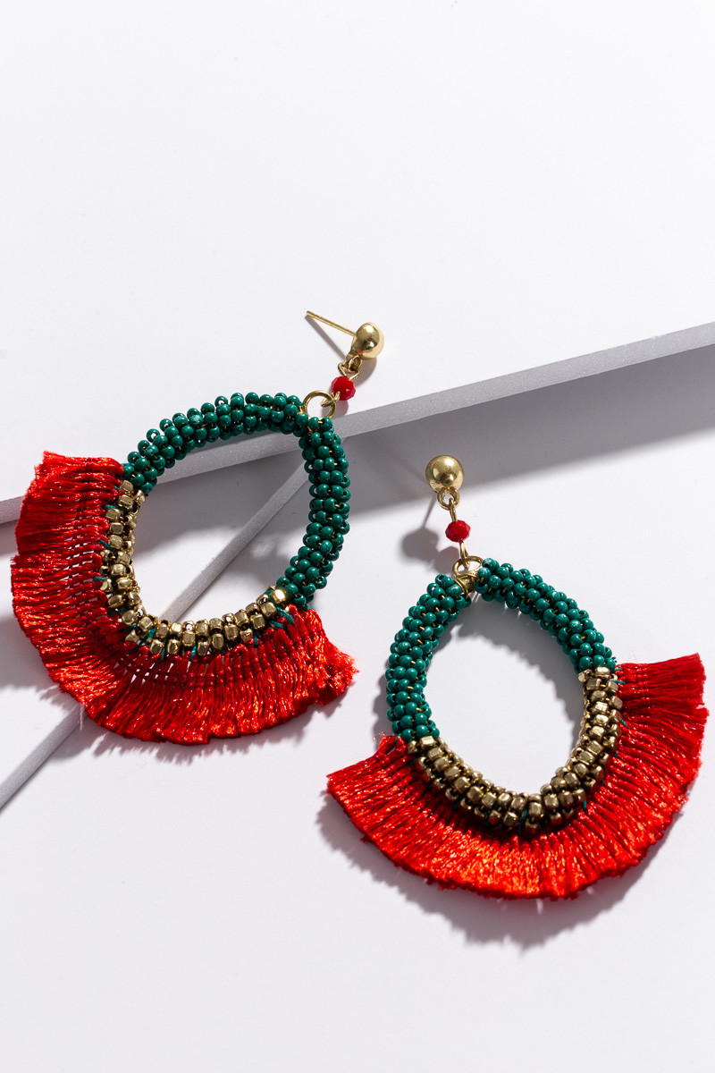 Red Rum Earring