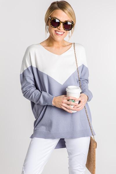 Blue Steel V Sweater