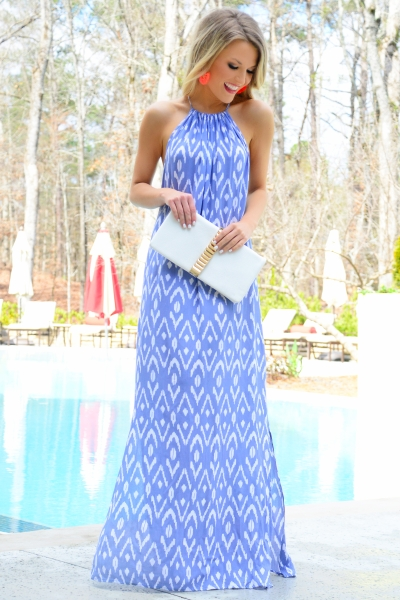 Miley Maxi Dress, Periwinkle