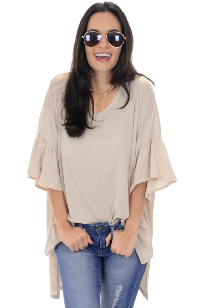 Textured Knit Tunic, Taupe
