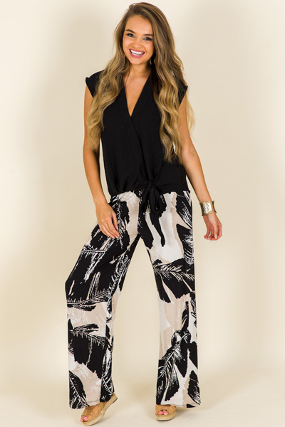Black Palms Pants