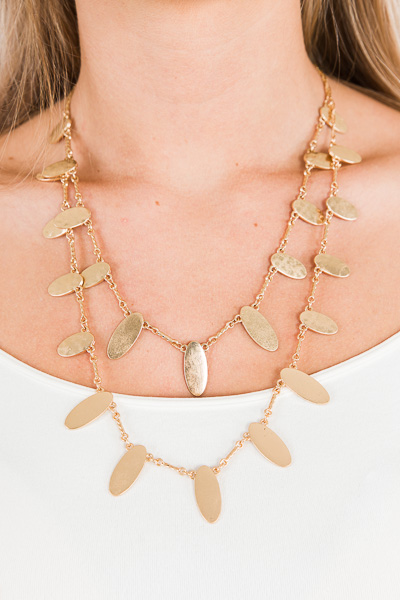 Double Trouble Necklace, Gold