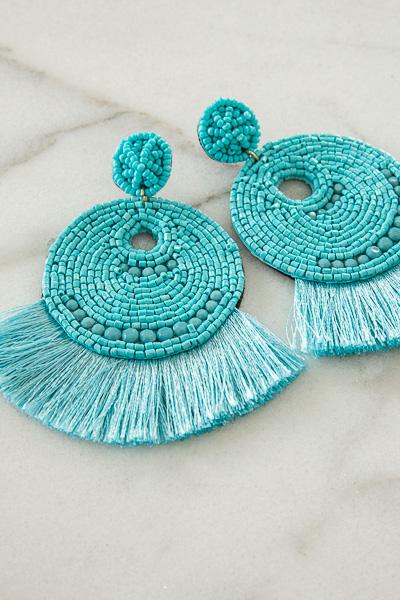 Chelsea Fringe Earring, Turquoise