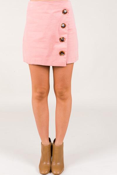 Button Up Skirt, Pink