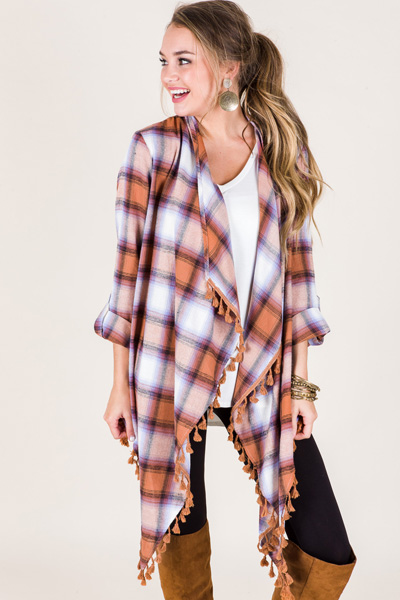 Autumn Plaid Topper