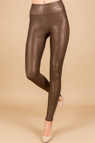 SPANX Leather Legging, Bronze