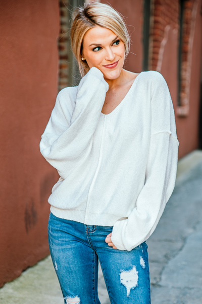 Classic Love Sweater, Ivory