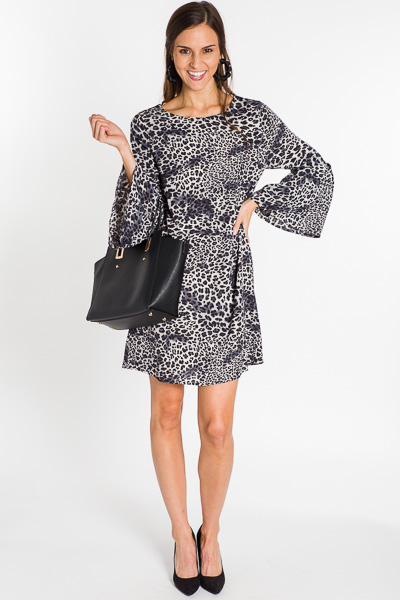 Bell Sleeve Shift, Leopard