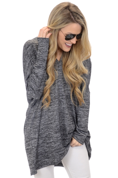 After Party Tunic, Dark Grey