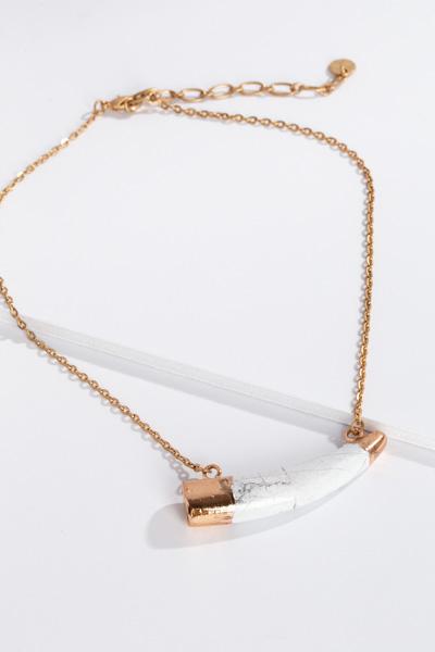 White Horn Short Necklace