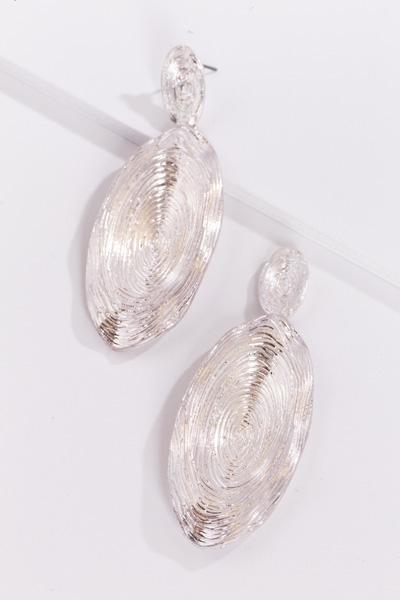 Tree Ring Ear, Silver