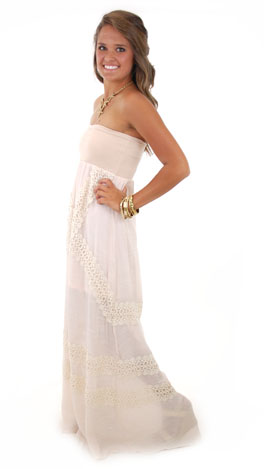 Judith March Deep Southern Maxi, Cream