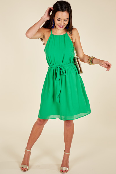 All Afternoon Dress, Green