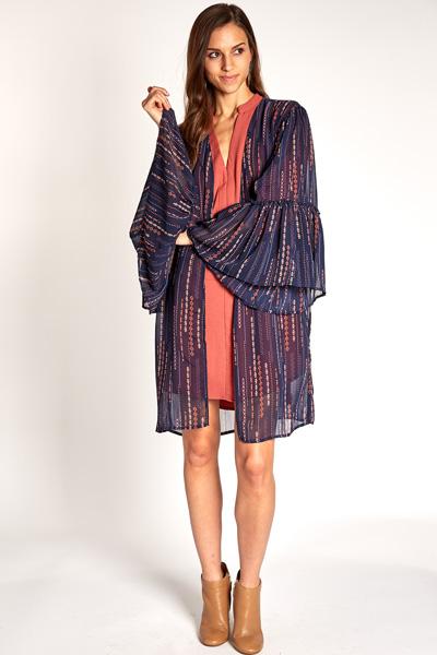 Dream Catcher Kimono, Navy
