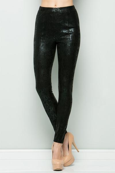 Cobra Leather Leggings