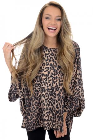 Oversized Leopard Sweatshirt