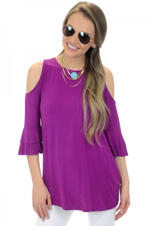 Mazy Ruffle Top, Orchid