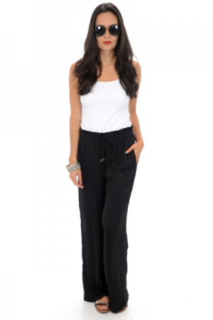 Bentley Drawstring Pants, Black