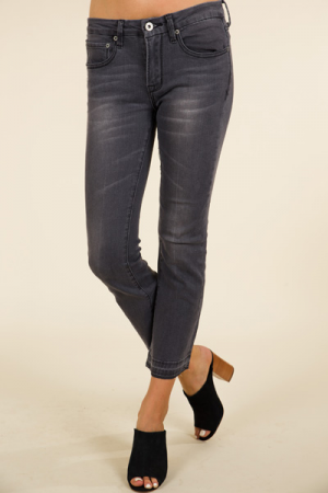 Kick Flare Jeans, Grey