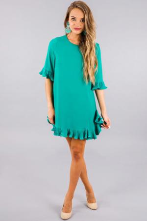 Maretta Dress, Teal
