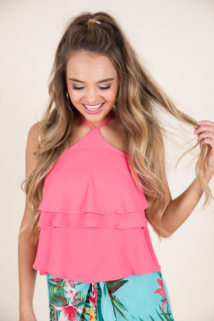 Georgianna Top, Coral