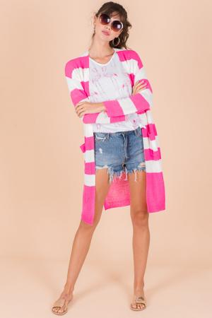 Meg Cardigan, Hot Pink