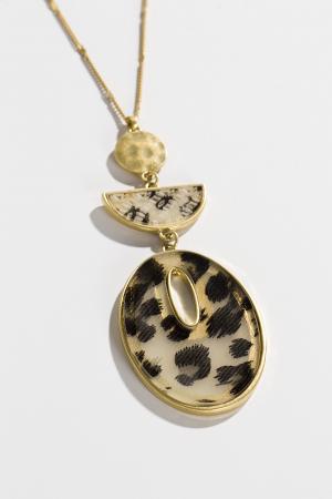 Leopard Oval Neck