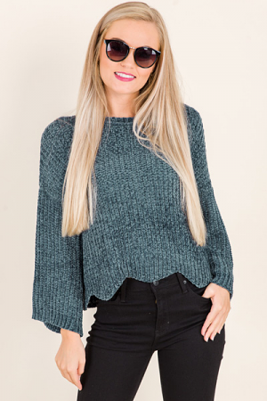 Wavy Chenille Sweater