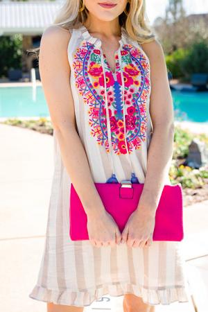 Cornflower Striped Dress