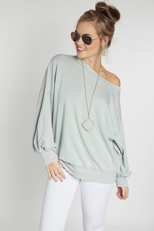 Tumbled Sweatshirt, Sage