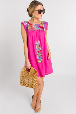 Marie Shift, Pink Linen