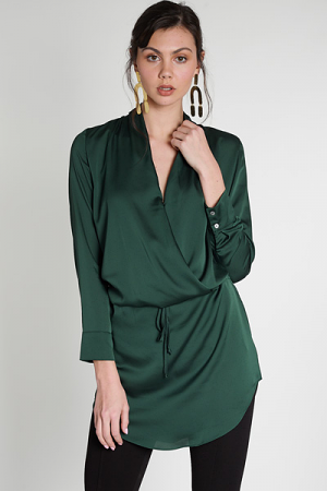 Satin Drop Waist Dress