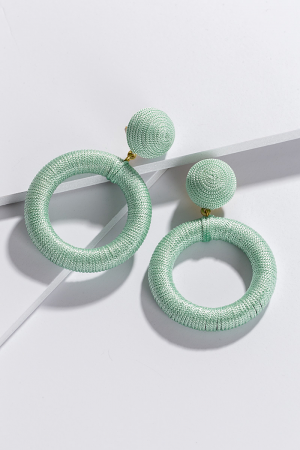 Thread Circle Ear, Green