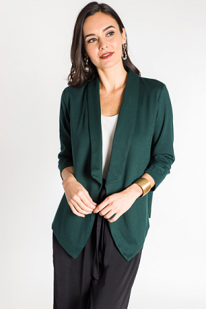 Knit Blazer, Green