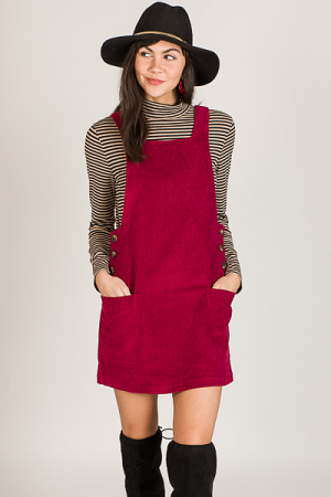 Wine Time Corduroy Jumper