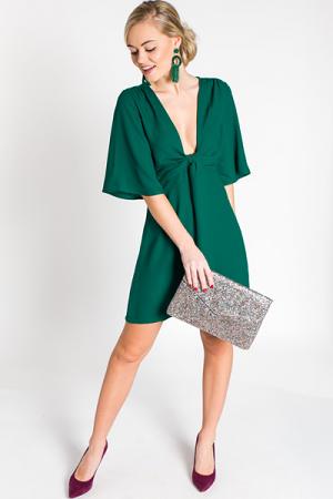 Put A Knot In It Dress, Green