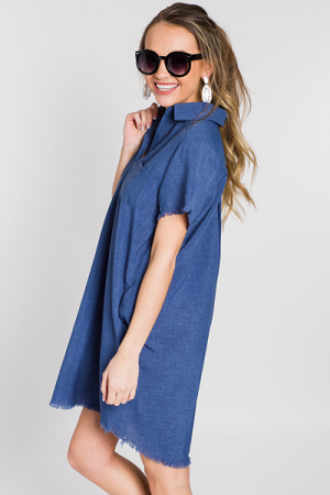 Rio Shirt Dress, Denim
