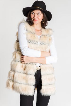 Marshmellow World Fur Vest