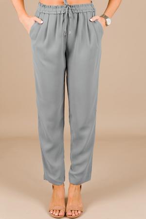 Paige Pocket Pants, Blue