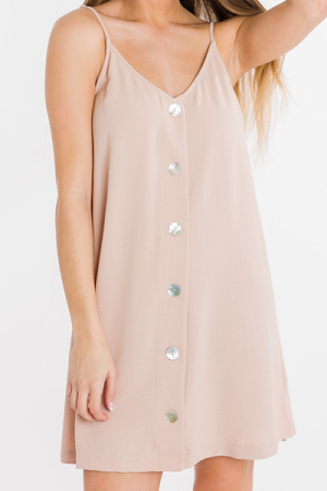 All That Shimmers Button Dress