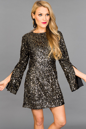 Taylor Sequin Dress