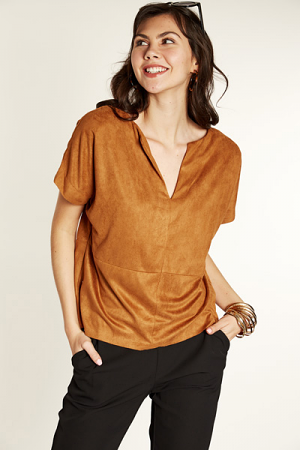 Suede Occasion Top