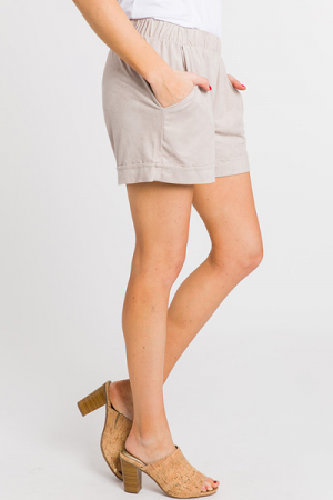 Pull on Shorts, Creamy Taupe
